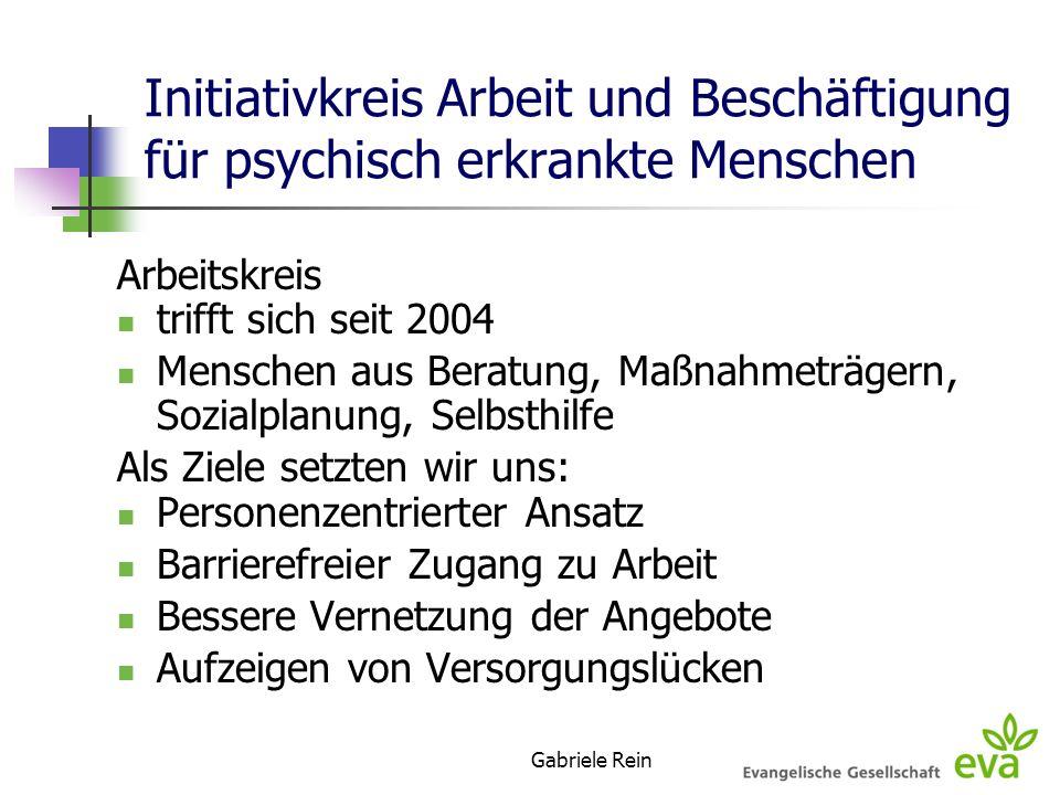Initiativkreis Arbeit und Beschäftigung für psychisch erkrankte Menschen