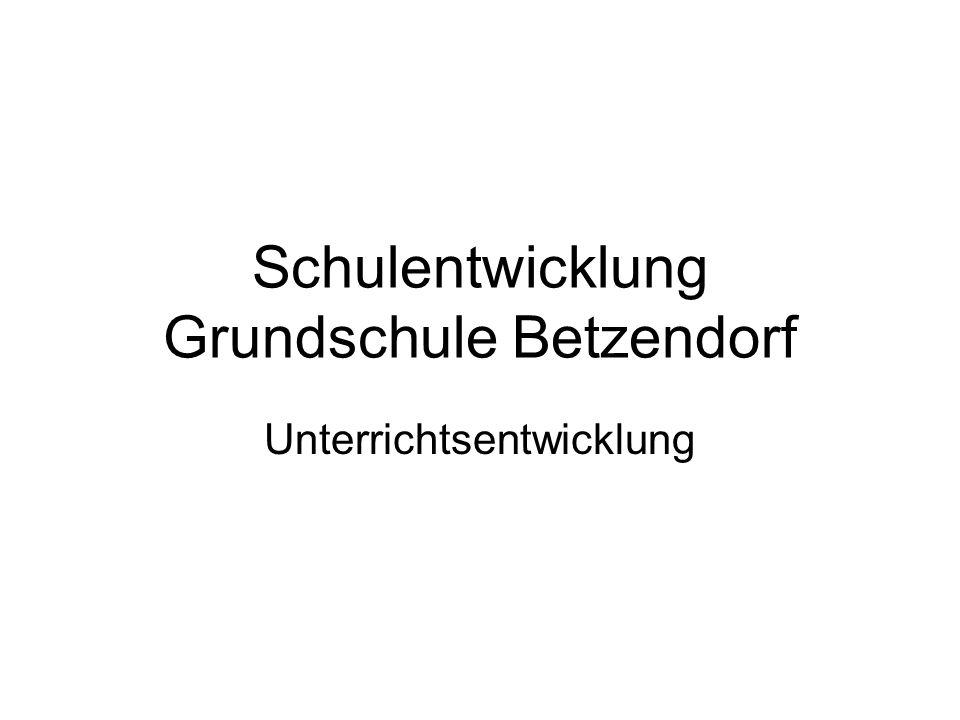 Schulentwicklung Grundschule Betzendorf