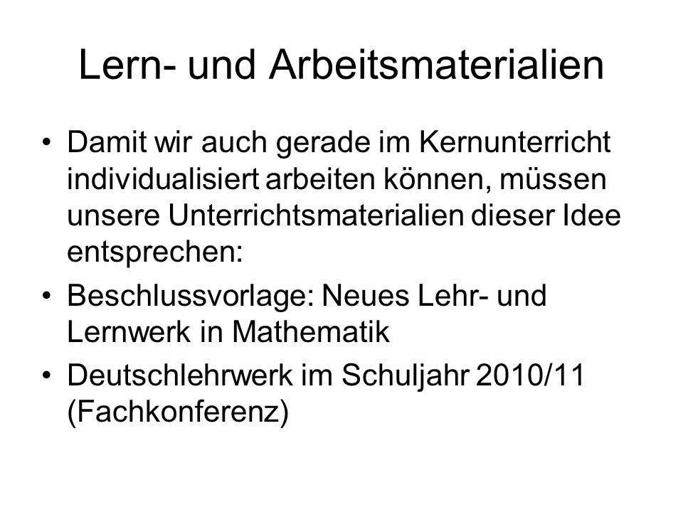 Lern- und Arbeitsmaterialien