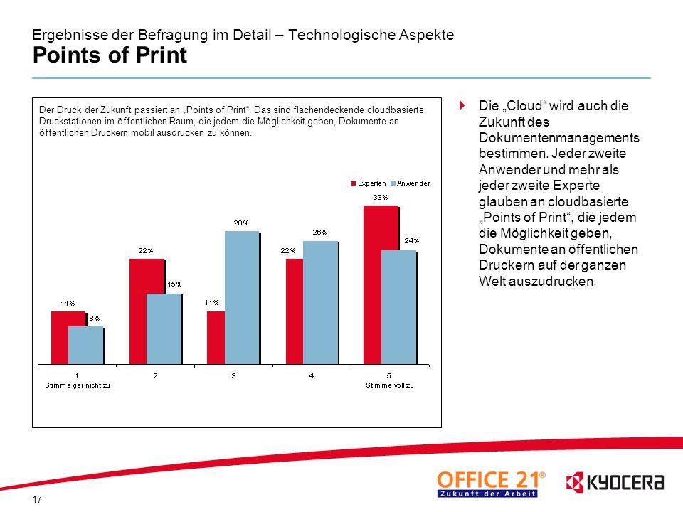 Ergebnisse der Befragung im Detail – Technologische Aspekte Points of Print