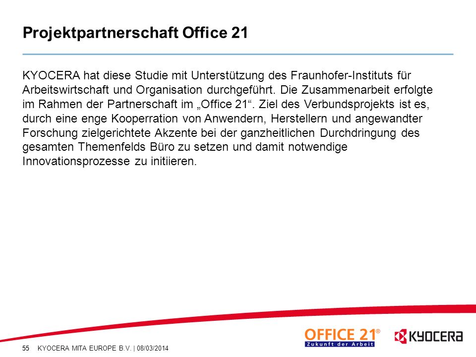 Projektpartnerschaft Office 21