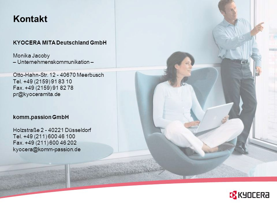 Kontakt KYOCERA MITA Deutschland GmbH Monika Jacoby