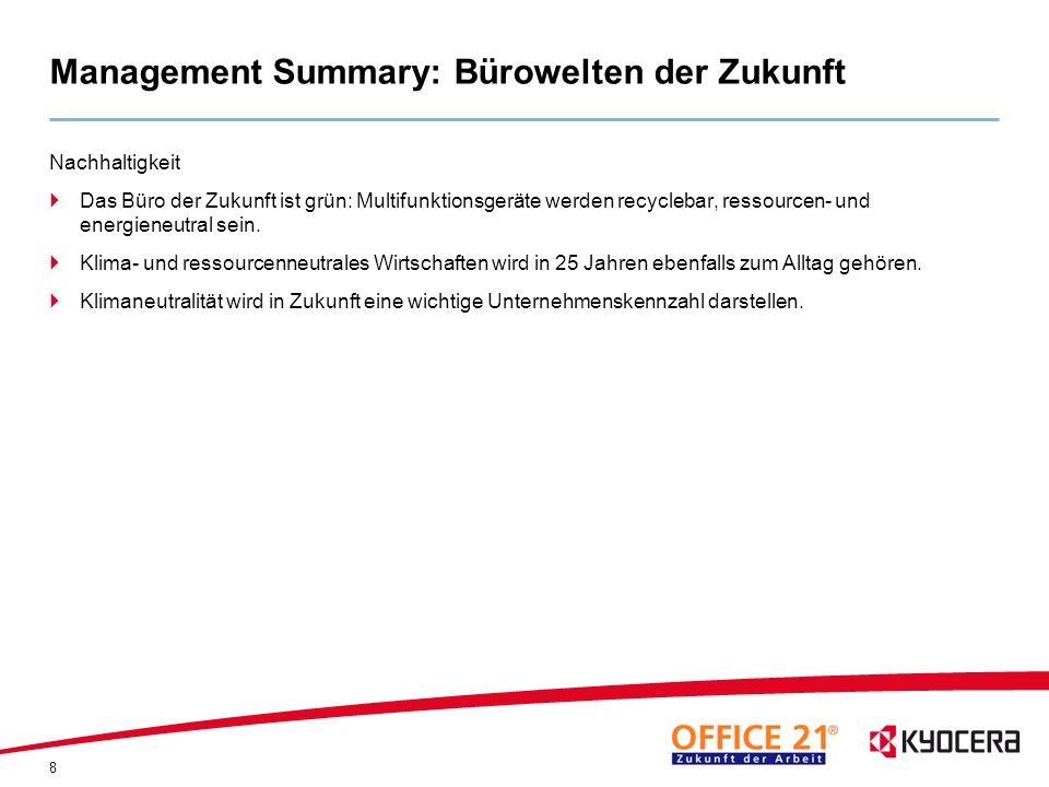 Management Summary: Bürowelten der Zukunft