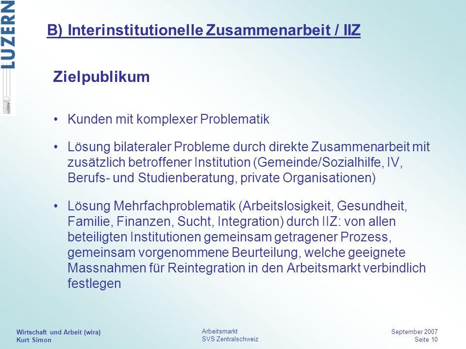 B) Interinstitutionelle Zusammenarbeit / IIZ