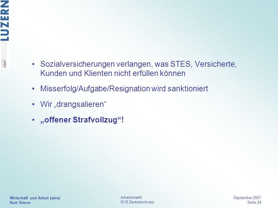 """Misserfolg/Aufgabe/Resignation wird sanktioniert Wir """"drangsalieren"""