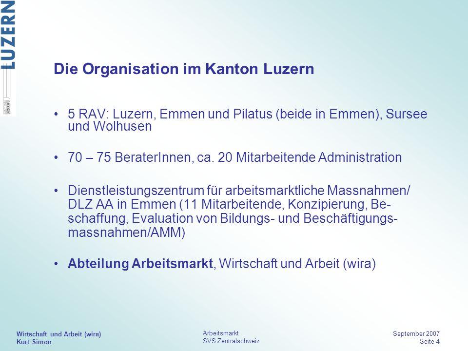 Die Organisation im Kanton Luzern