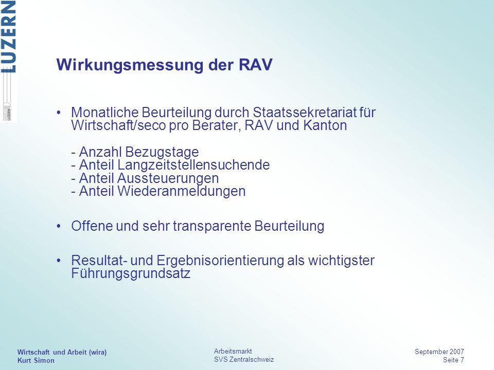 Wirkungsmessung der RAV