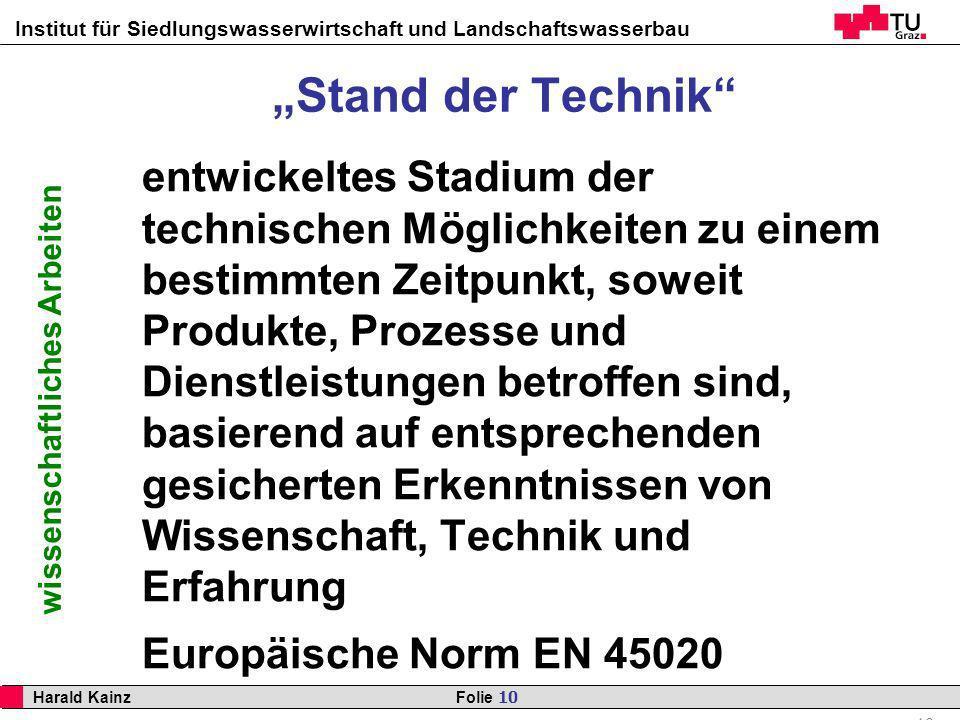 """""""Stand der Technik"""