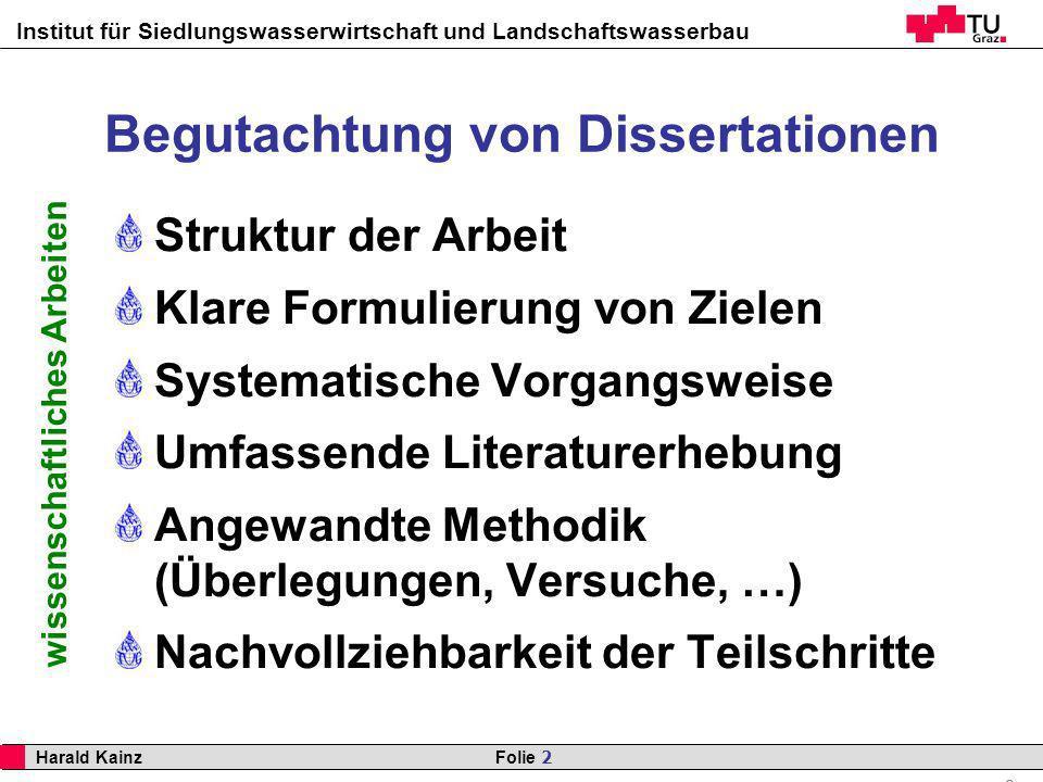 Begutachtung von Dissertationen