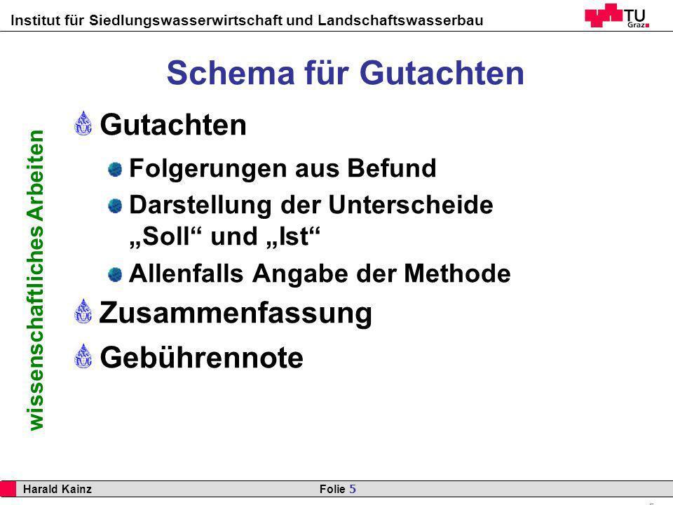 Schema für Gutachten Gutachten Zusammenfassung Gebührennote