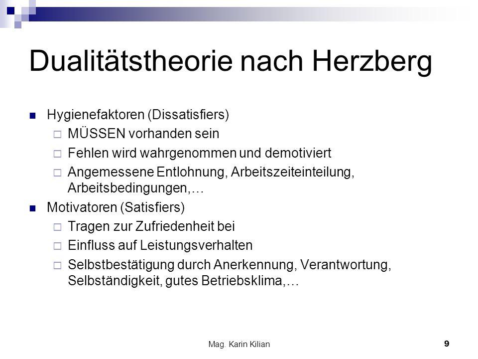 Dualitätstheorie nach Herzberg