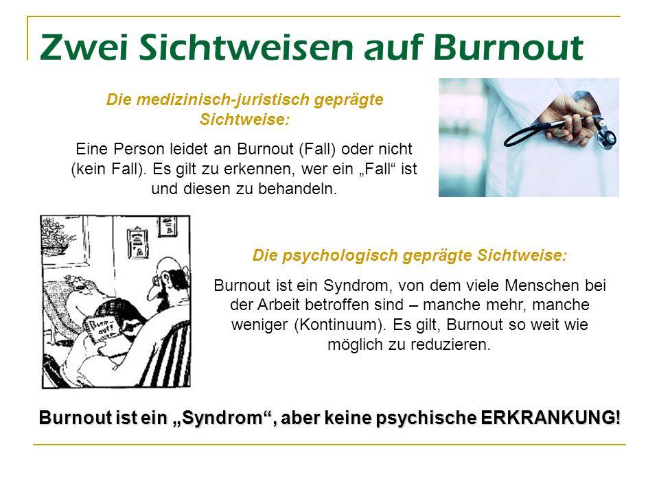 Zwei Sichtweisen auf Burnout