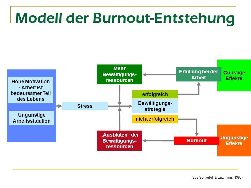 Modell der Burnout-Entstehung