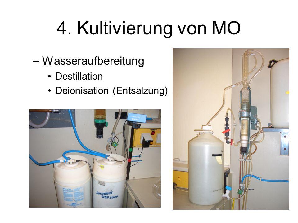 4. Kultivierung von MO Wasseraufbereitung Destillation