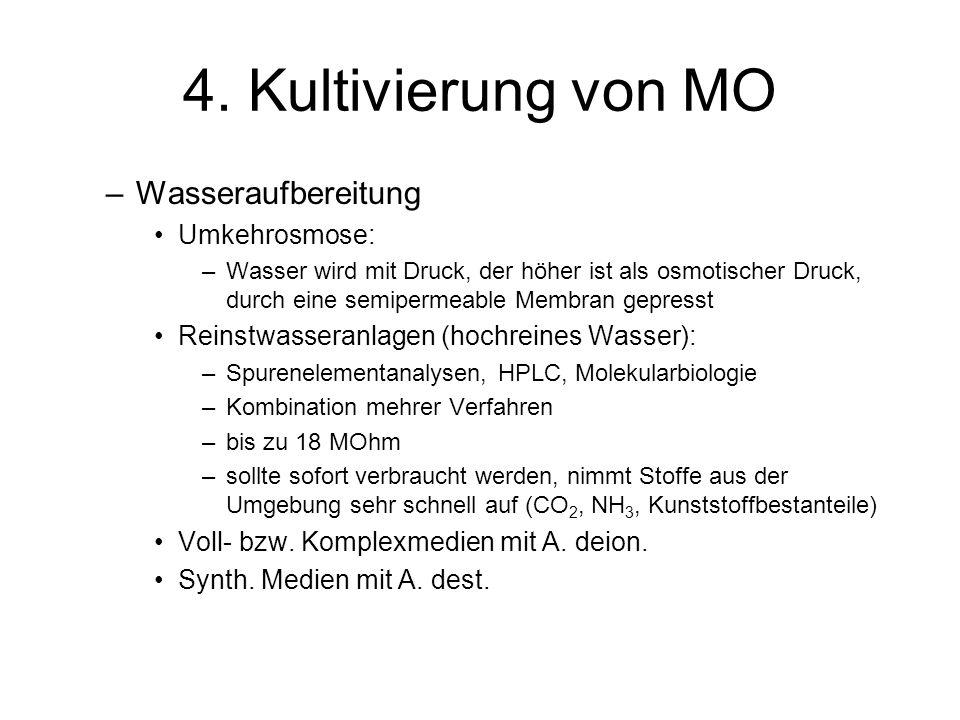 4. Kultivierung von MO Wasseraufbereitung Umkehrosmose: