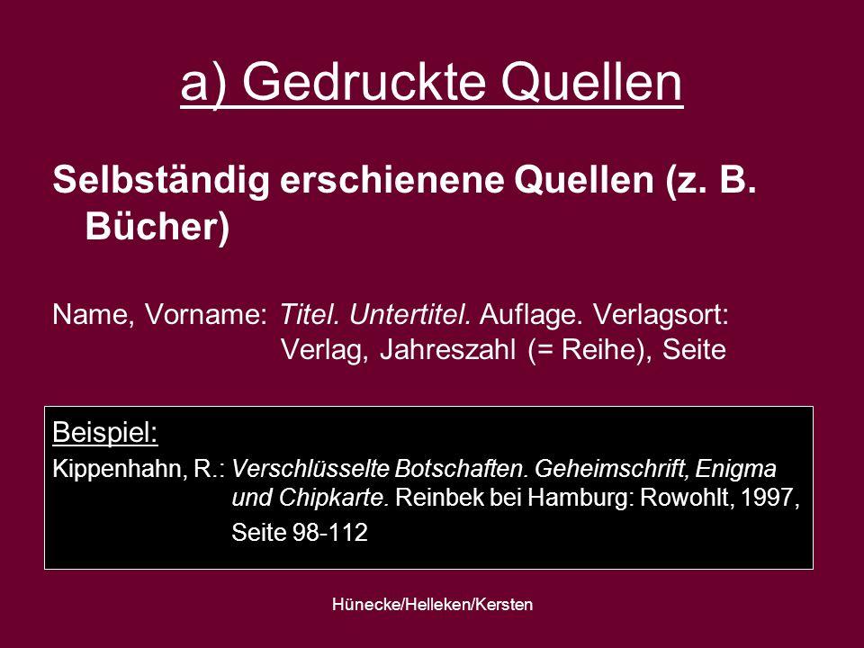Hünecke/Helleken/Kersten