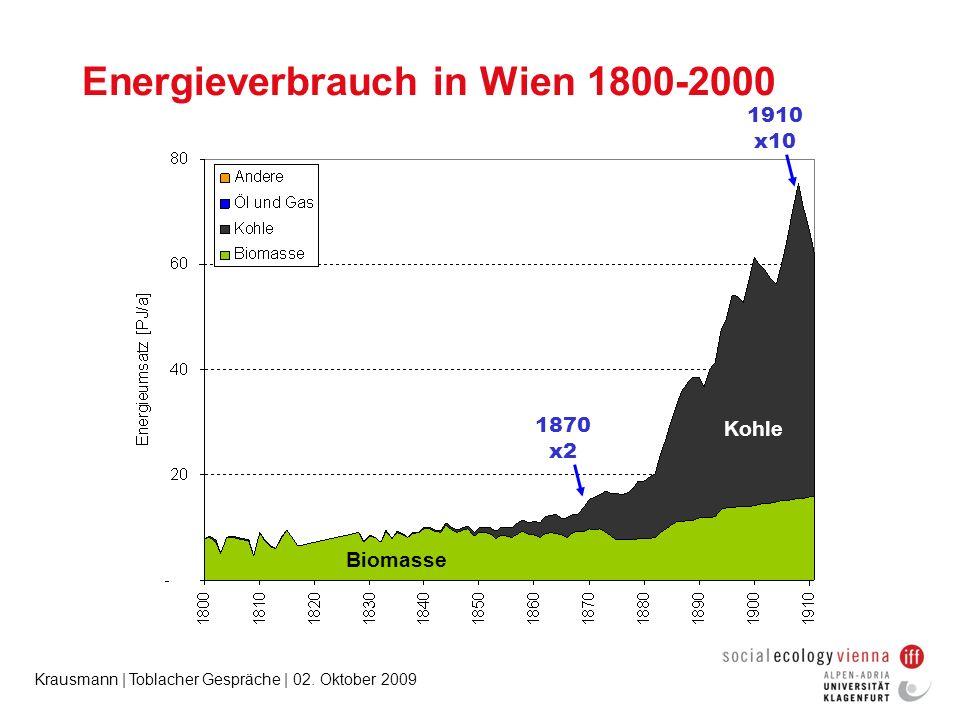 Energieverbrauch in Wien 1800-2000