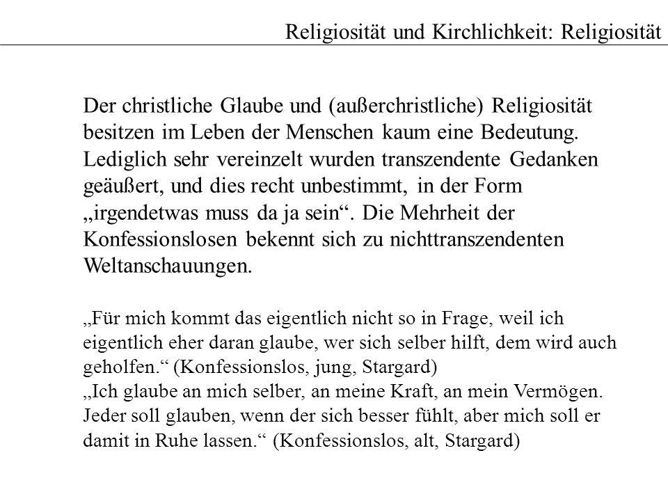 Religiosität und Kirchlichkeit: Religiosität