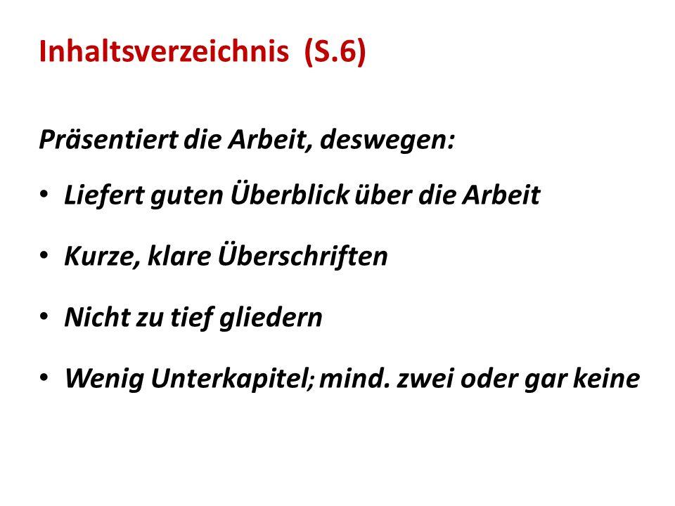Inhaltsverzeichnis (S.6)
