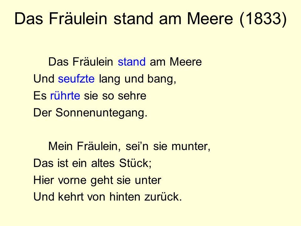 Das Fräulein stand am Meere (1833)
