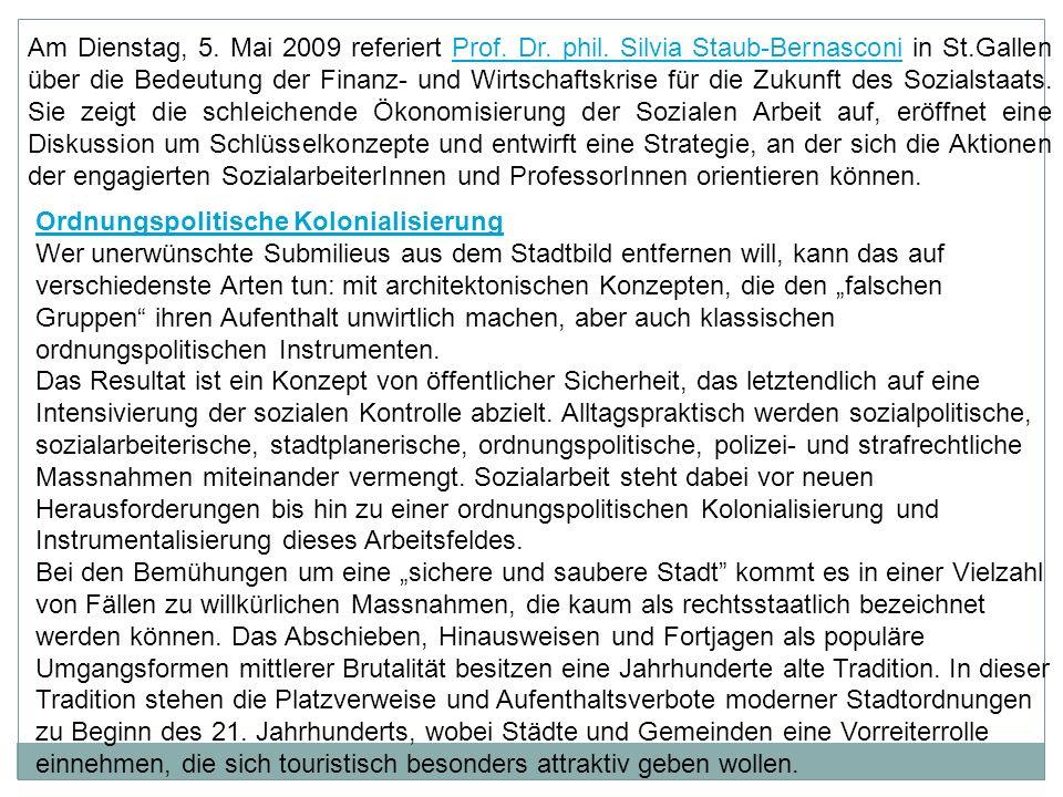 Am Dienstag, 5. Mai 2009 referiert Prof. Dr. phil