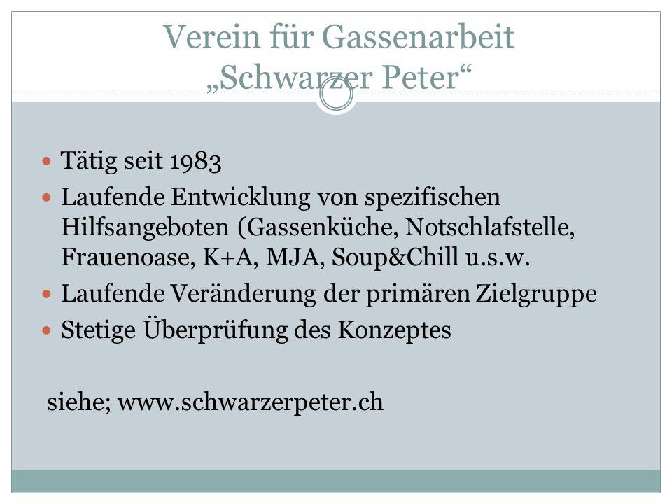 """Verein für Gassenarbeit """"Schwarzer Peter"""