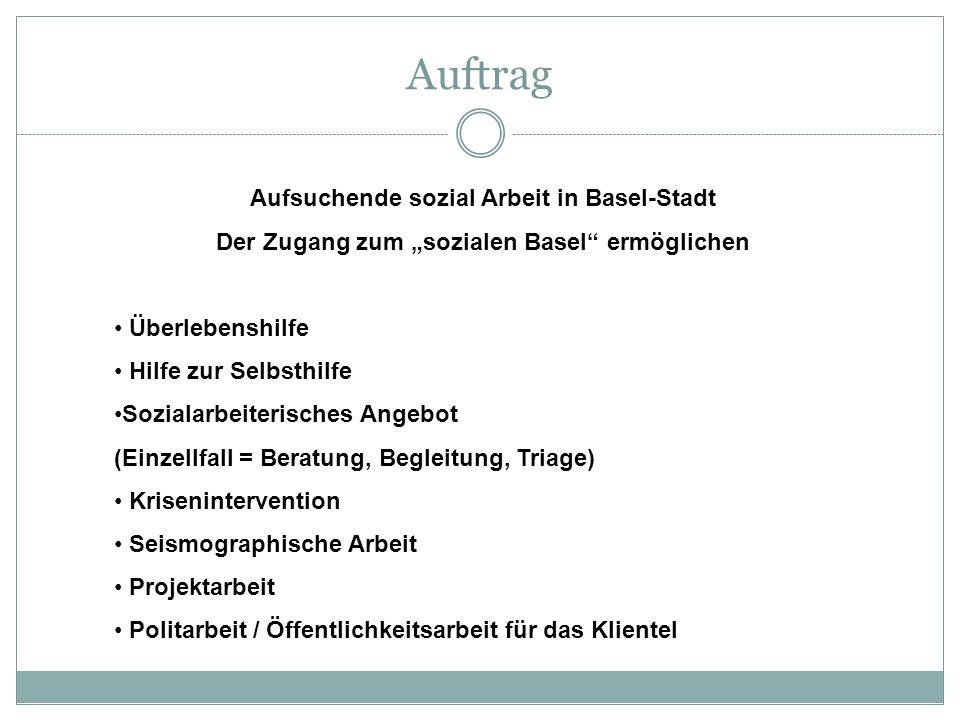 Auftrag Aufsuchende sozial Arbeit in Basel-Stadt