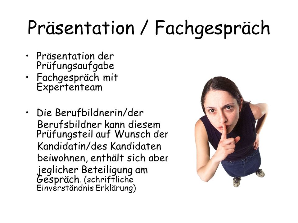 Präsentation / Fachgespräch
