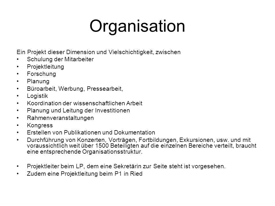 Organisation Ein Projekt dieser Dimension und Vielschichtigkeit, zwischen. Schulung der Mitarbeiter.