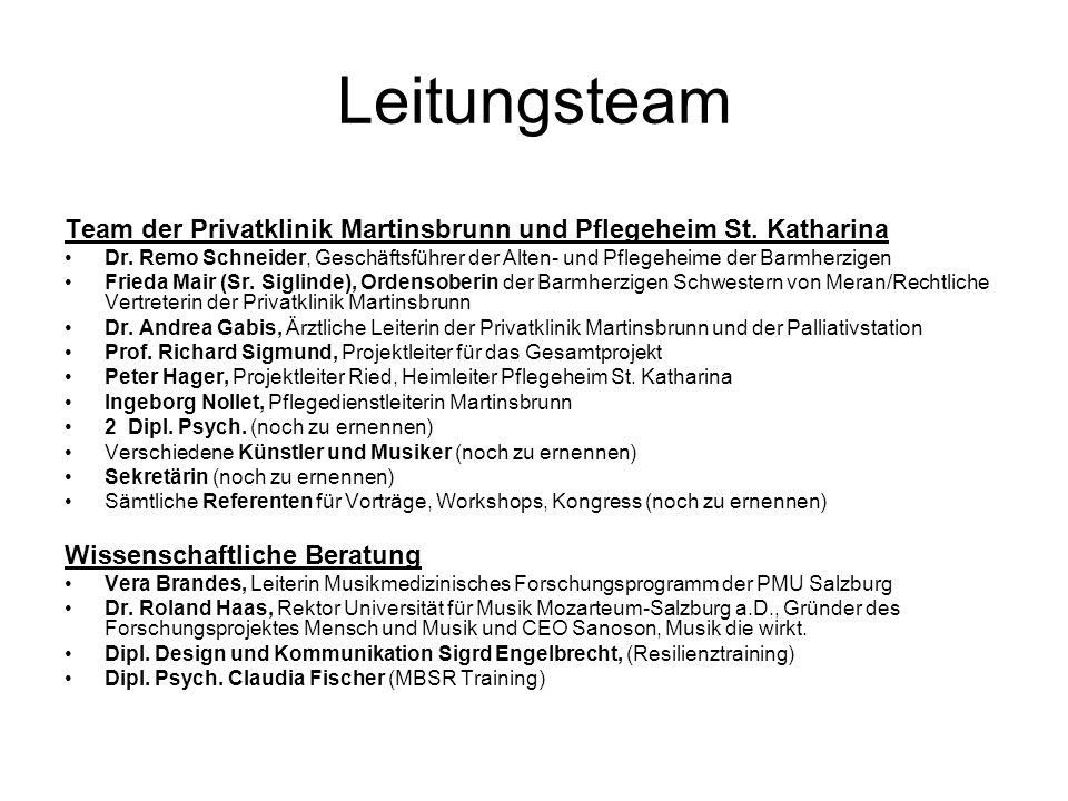 Leitungsteam Team der Privatklinik Martinsbrunn und Pflegeheim St. Katharina.