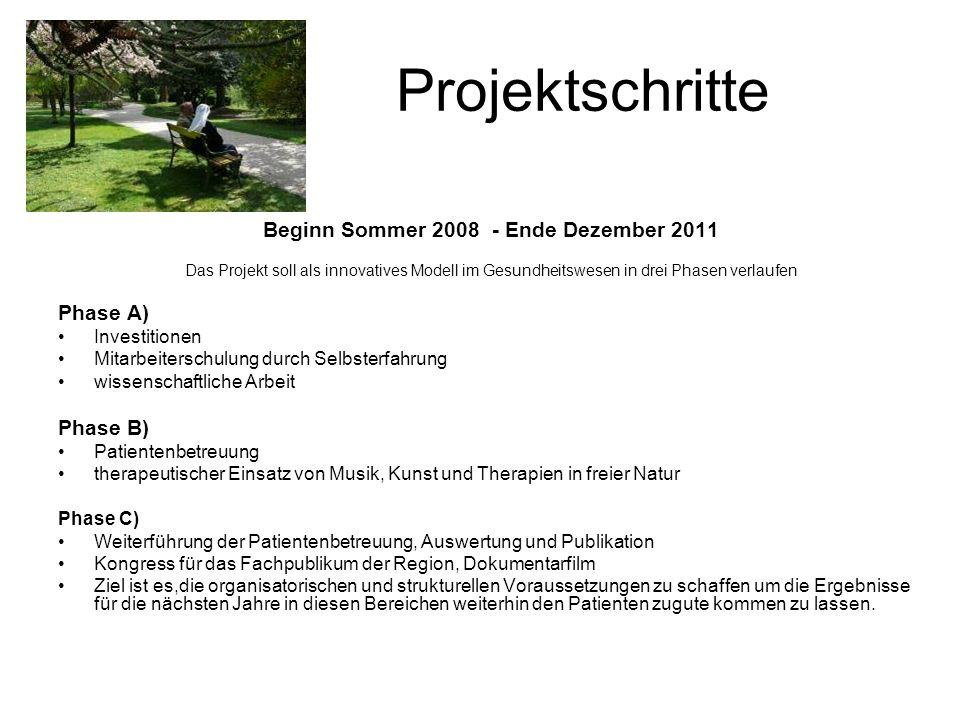Beginn Sommer 2008 - Ende Dezember 2011