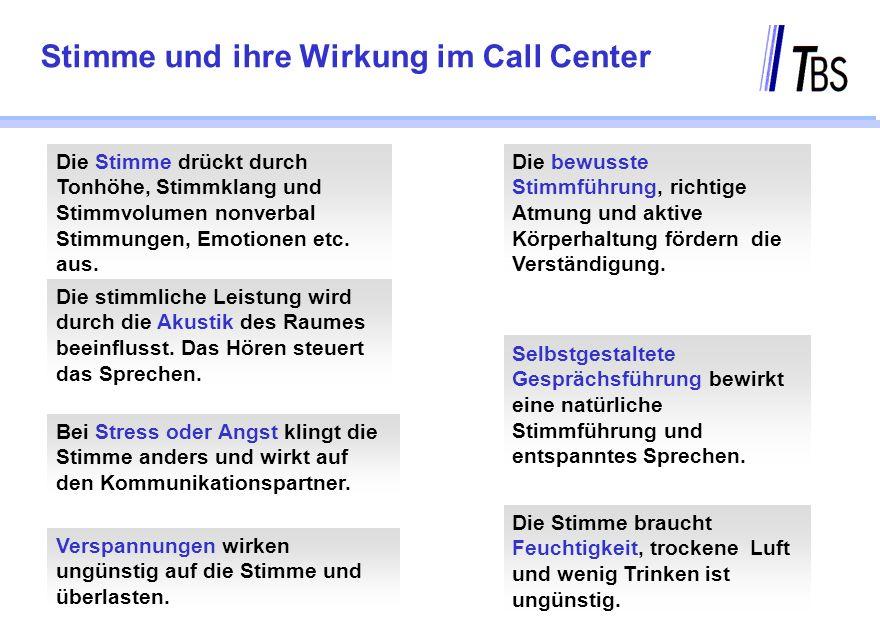 Stimme und ihre Wirkung im Call Center