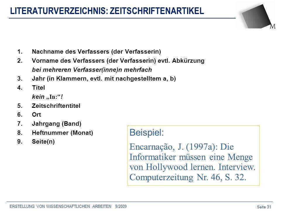 LITERATURVERZEICHNIS: ZEITSCHRIFTENARTIKEL