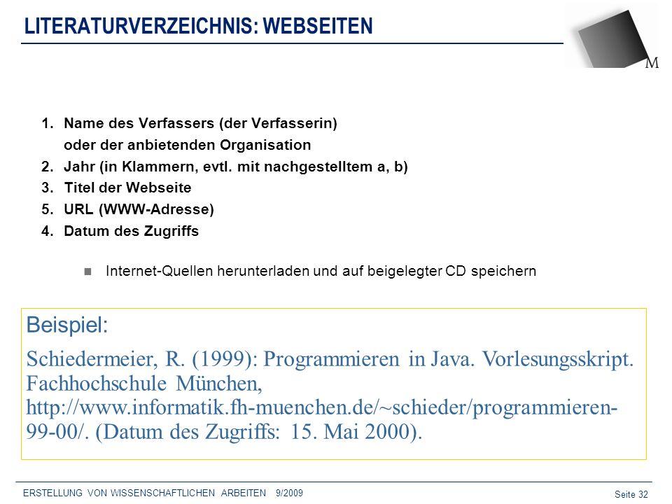 LITERATURVERZEICHNIS: WEBSEITEN