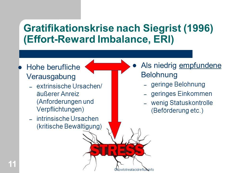 Gratifikationskrise nach Siegrist (1996) (Effort-Reward Imbalance, ERI)