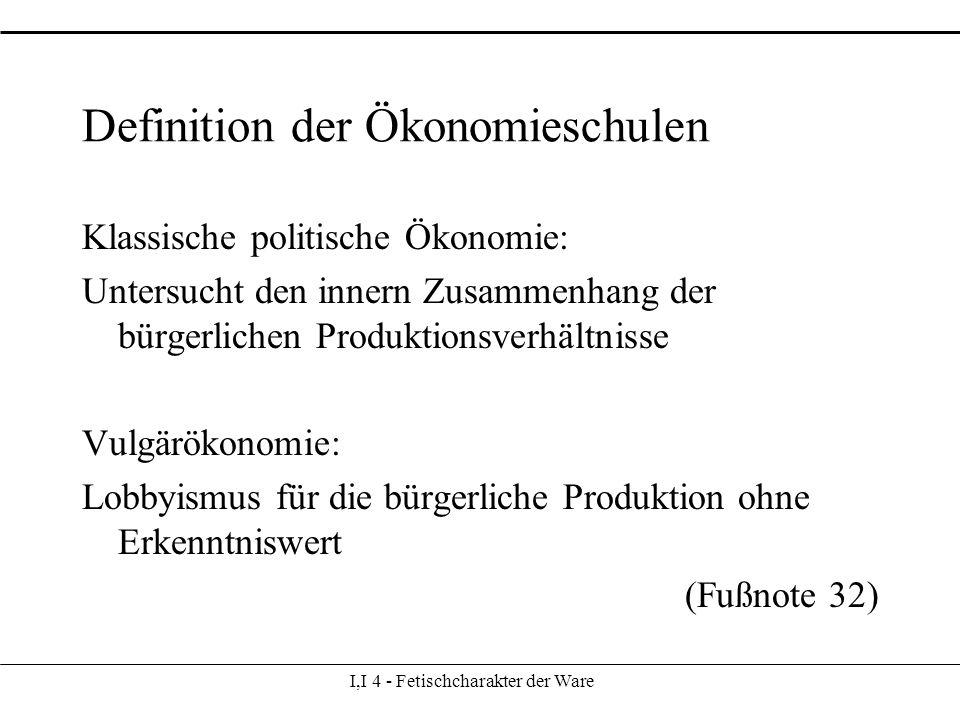 Definition der Ökonomieschulen