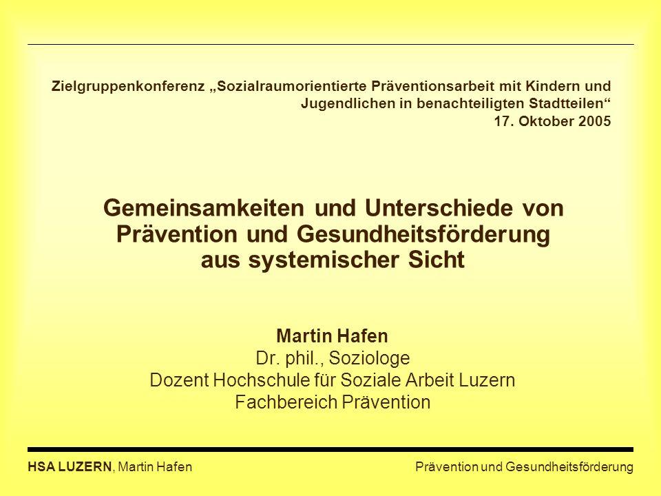 """Zielgruppenkonferenz """"Sozialraumorientierte Präventionsarbeit mit Kindern und Jugendlichen in benachteiligten Stadtteilen 17. Oktober 2005"""