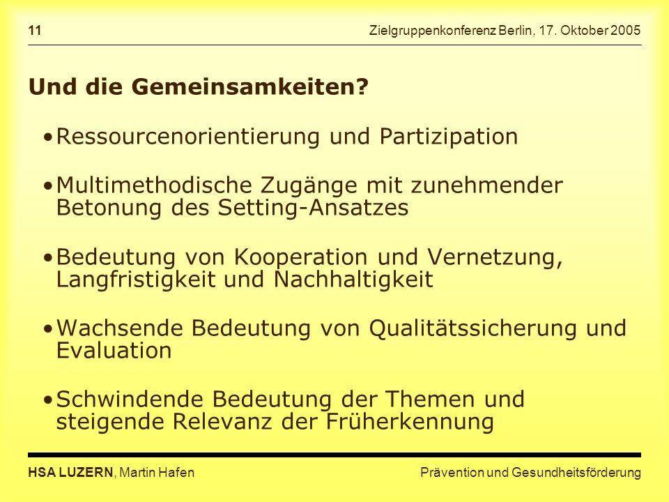 Zielgruppenkonferenz Berlin, 17. Oktober 2005