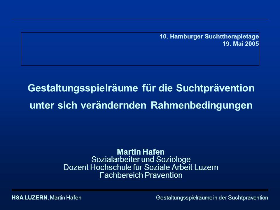 10. Hamburger Suchttherapietage 19. Mai 2005