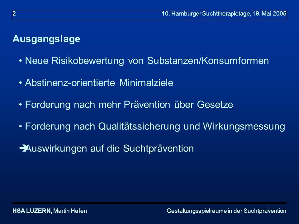 10. Hamburger Suchttherapietage, 19. Mai 2005