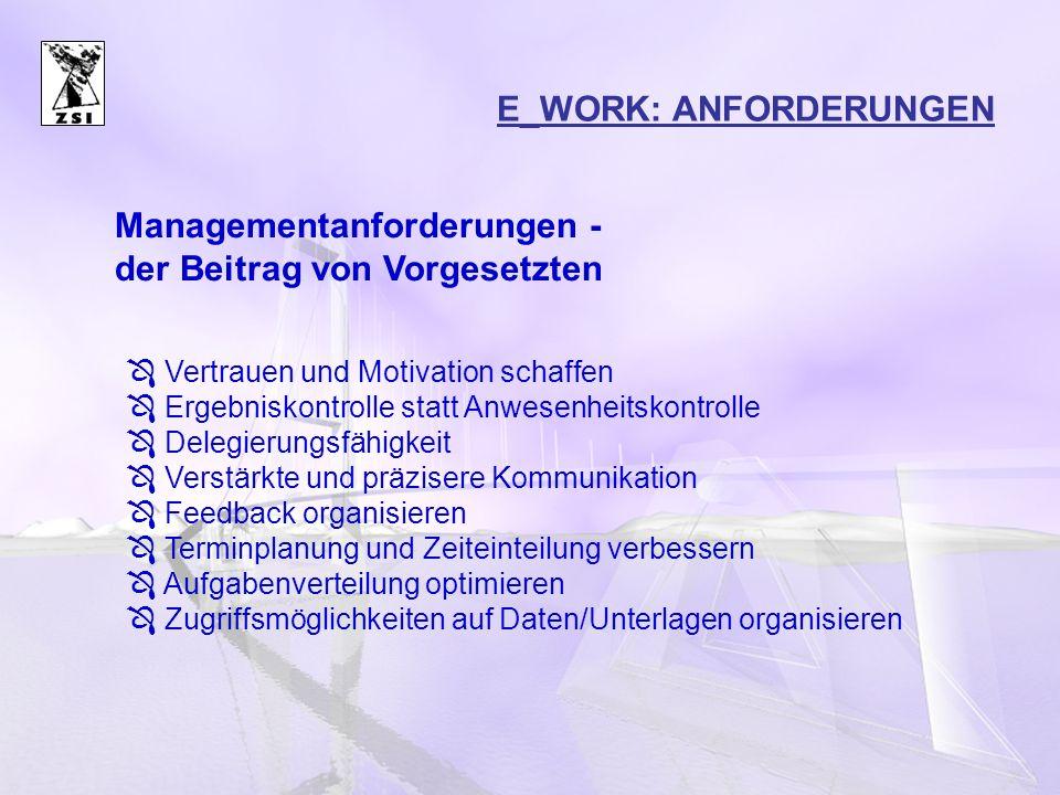 E_WORK: ANFORDERUNGEN