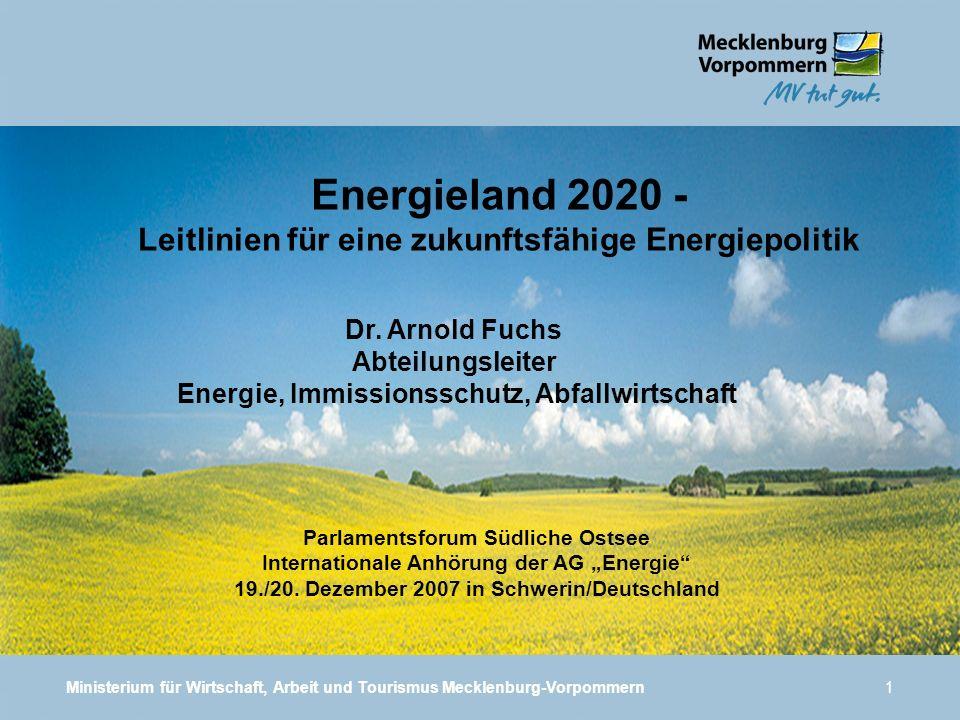 Energieland 2020 - Leitlinien für eine zukunftsfähige Energiepolitik