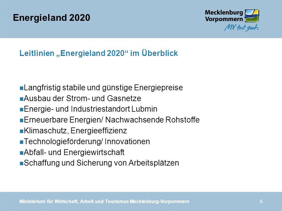 """Leitlinien """"Energieland 2020 im Überblick"""