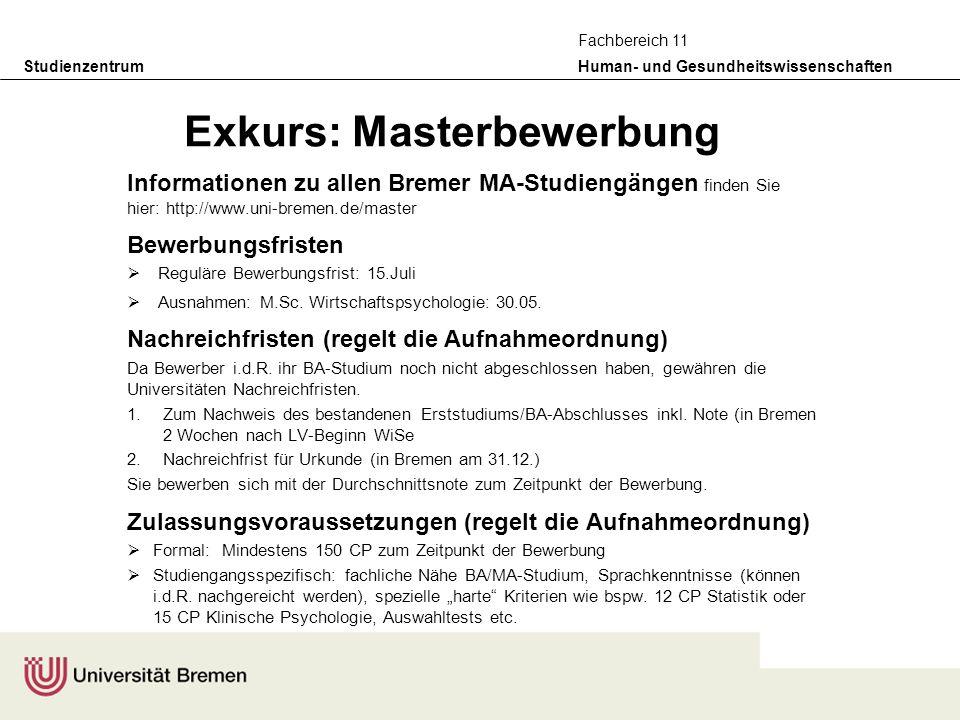 Exkurs: Masterbewerbung