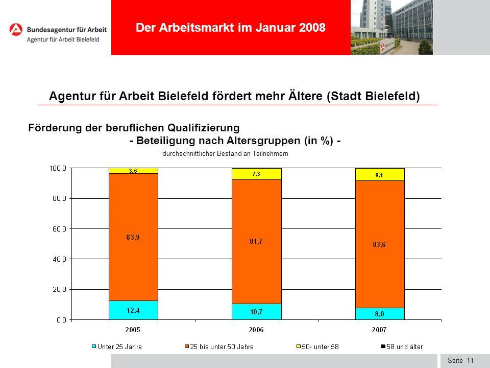 Agentur für Arbeit Bielefeld fördert mehr Ältere (Stadt Bielefeld)