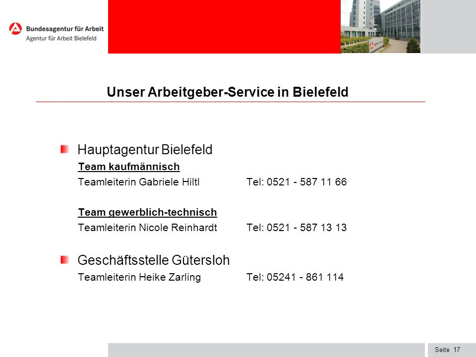 Unser Arbeitgeber-Service in Bielefeld