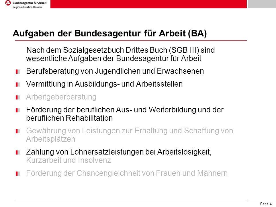Aufgaben der Bundesagentur für Arbeit (BA)