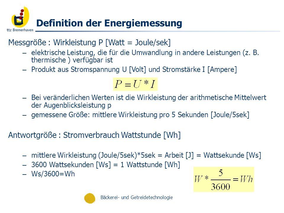 Definition der Energiemessung