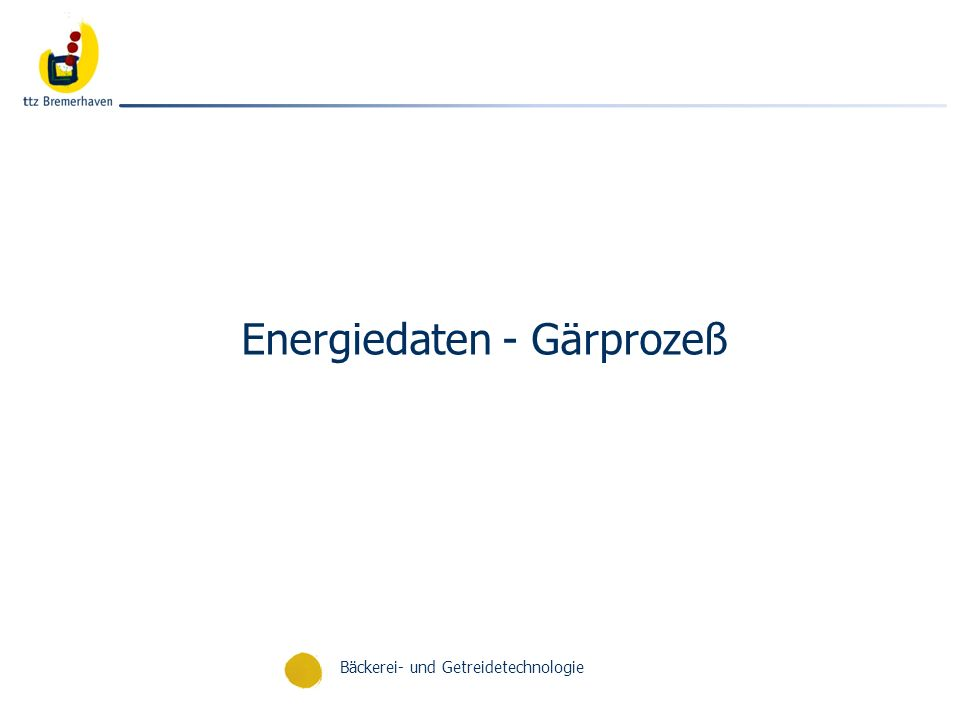 Energiedaten - Gärprozeß