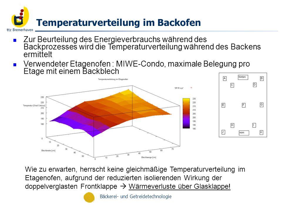 Temperaturverteilung im Backofen